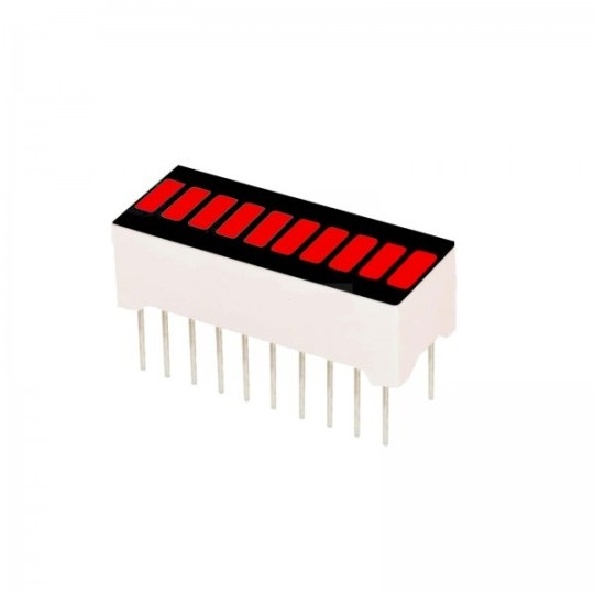 10 SEGMENTOS BARRA LED ROJO 20PINS