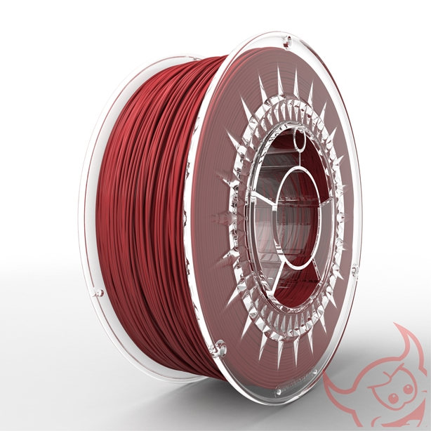 FILAMENTO PET-G 1.75MM CARRETE 1KG COLOR ROJO (DEVIL) HQ