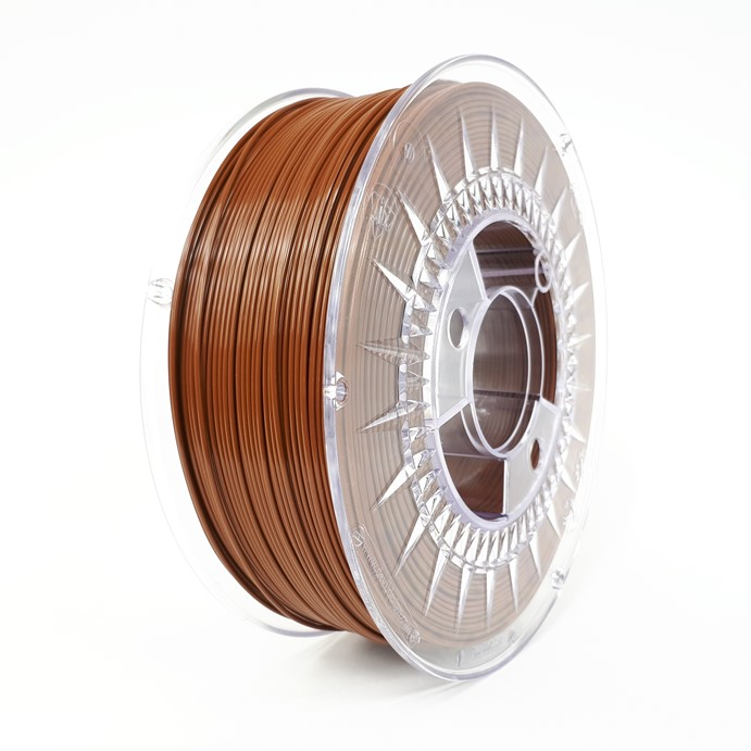 FILAMENTO PLA 1.75MM CARRETE 1KILO COLOR MARRON (DEVIL) HQ