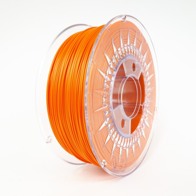 FILAMENTO PLA 1.75MM CARRETE 1KILO COLOR NARANJA (DEVIL) HQ