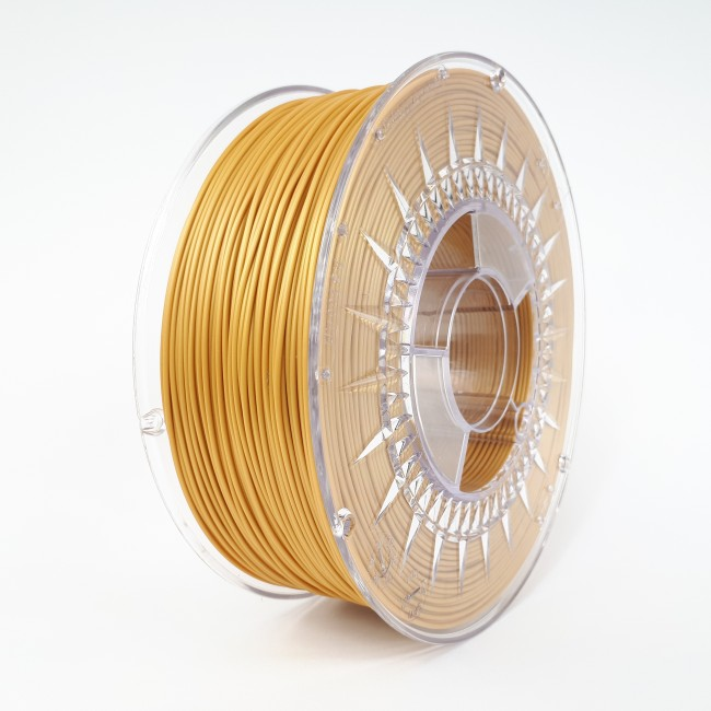 FILAMENTO PLA 1.75MM CARRETE 1KILO COLOR ORO (DEVIL) HQ