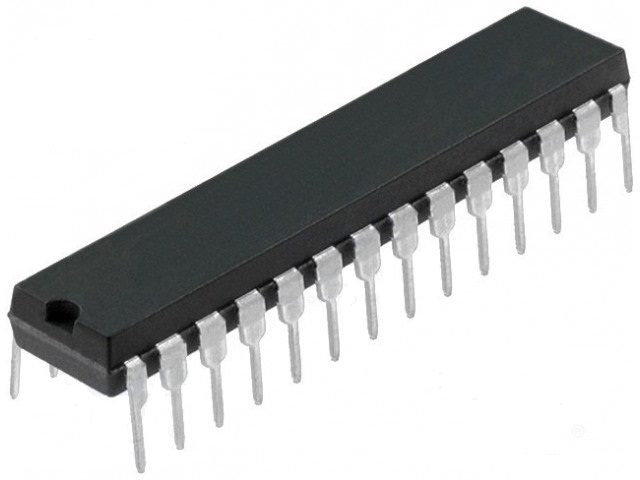 MICROCONTROLADOR AVR; EEPROM: 1KB; SRAM: 2KB; FLASH: 32KB; DIP28