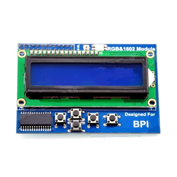 MODULO DISPLAY RGB 1602 PARA BANANA/RASPBERRY