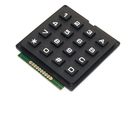 TECLADO 4X4 MATRIX PARA ARDUINO/FUNDUINO COLOR NEGRO