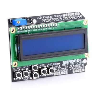 DISPLAY SHIELD LCD1602 CON BOTONERA PARA ARDUINO