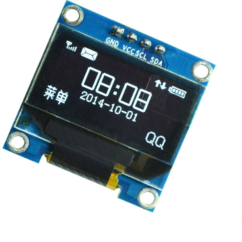 "MODULO DISPLAY LCD OLED 0.96"" 128X64 12C ICC BLANCO"
