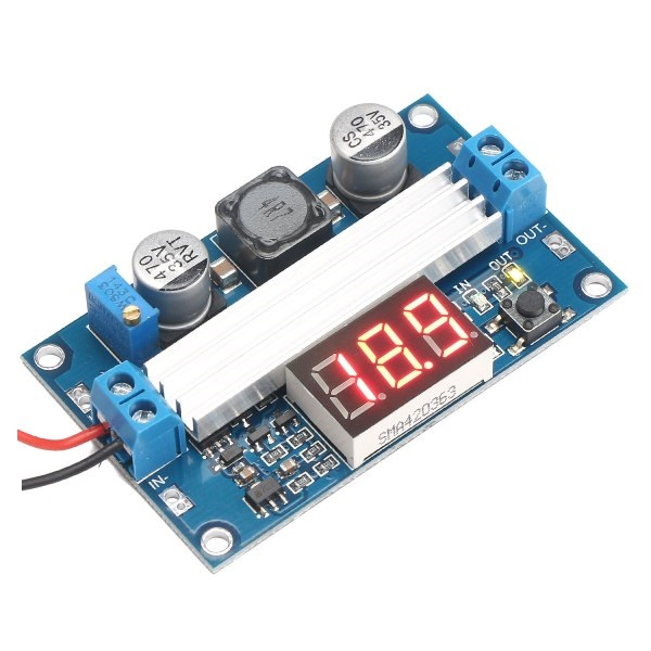 MODULO DC-DC LTC1871 STEP UP 3-35V/6AMP. CON DISPLAY