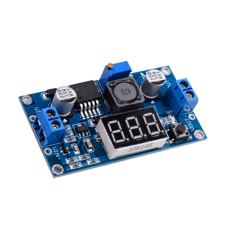 LM2596 MODULO DC-DC AJUSTABLE STEP-DOWN 4~40V A 1.3~37V CON DISPLAY