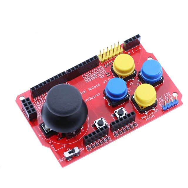 GAMEPAD JOYSTICK KEYPAD SHIELD PS2 PARA ARDUINO NRF24L01 NK 5110 LCD I2C