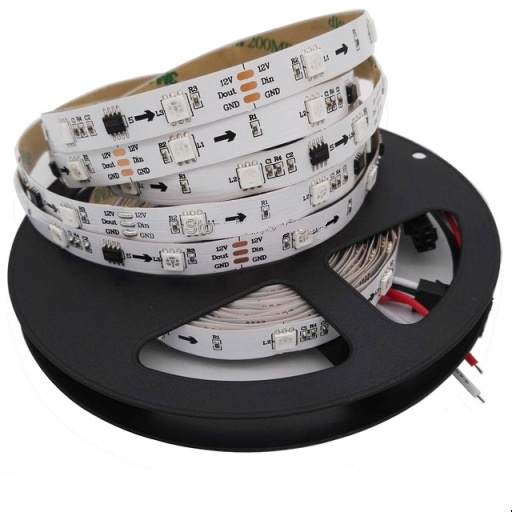 SMD5050 WS2811 TIRA LED INTELIGENTE 30LED/MT DC12V 8W/MT, IP20 RGB