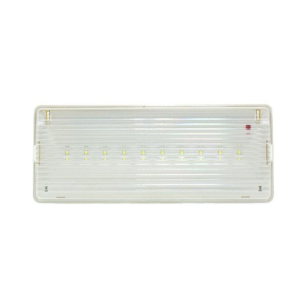 EMERGENCIA LED 200LM  5W 6000K PARA SUPERFICE Y EMPOTRAR CORTE: 250 X 97 MM