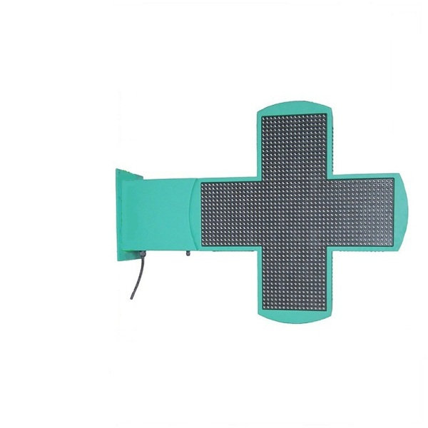 CRUZ FARMACIA LED 960X960MM WIFI CONTROL COLOR VERDE