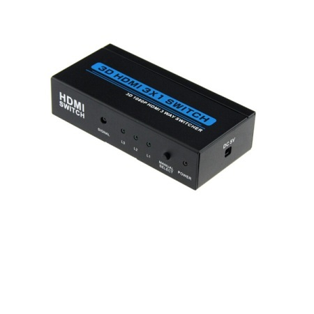 CONMUTADOR/AMPLIFICADOR A 20MT HDMI 3D 3X1 (3IN A 1OUT)