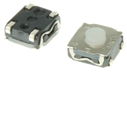 (L:3.5MM) PULSADOR DE TACTO SMD 4 PIN 6.2X6.2X3.5MM (MANDO RENAULT)