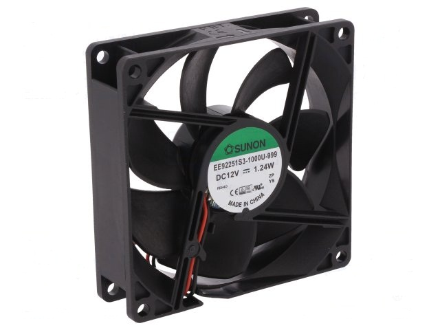 92X92X25MM DC12V VENTILADOR FRICCION 28DB