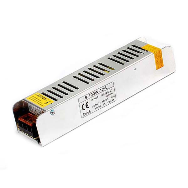 M100-12V, 100W, 8.5A   ALIMENTADOR INDUSTRIAL MINI 160X35X40MM