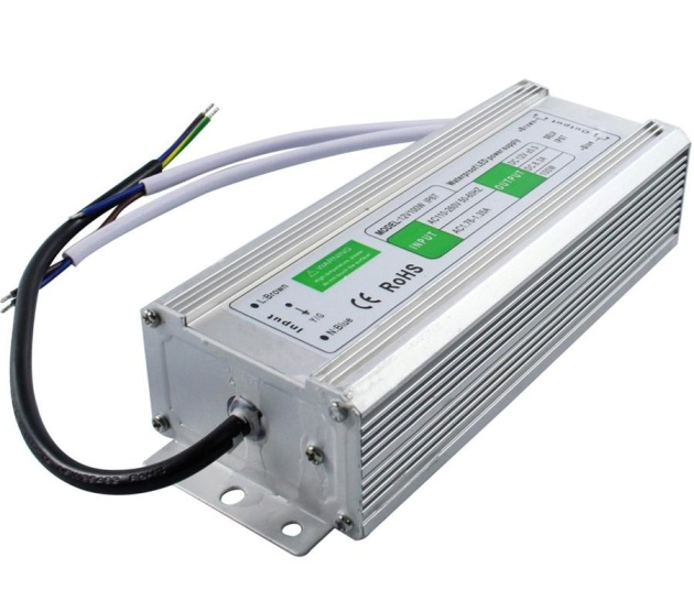 100W-12V, 100W, 8.5A    ALIMENTADOR INDUSTRIAL IP67 185X72X46MM