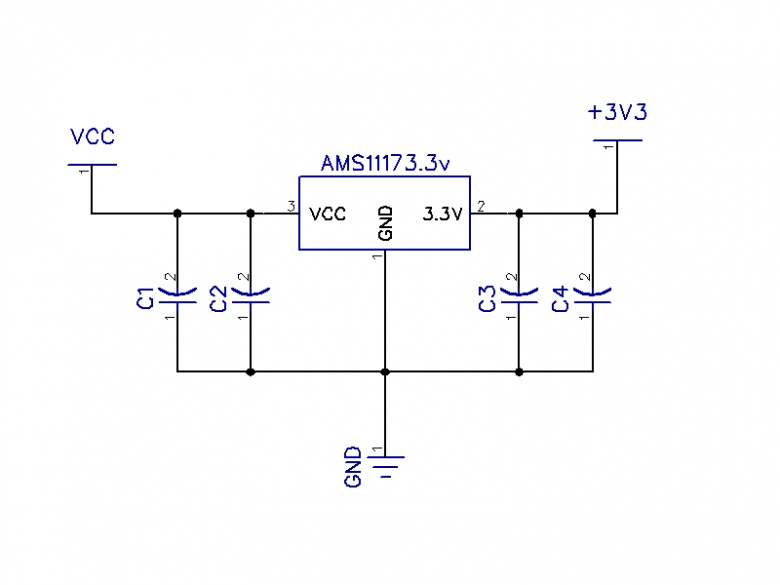 Ams1117-3.3 modulo alimentacion step-down dc5v a 3.3v 800map.